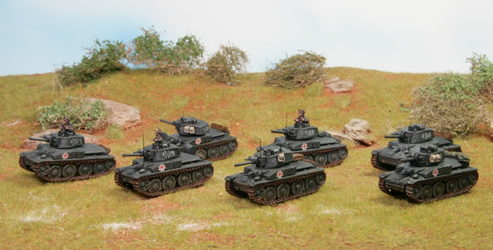 Hungarian T-38G tanks by Battlefront, painted by Tankred