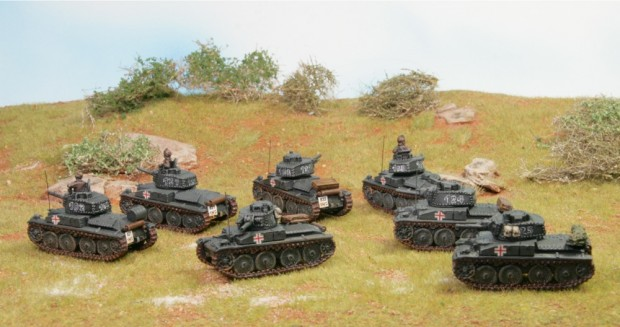38t tanks by Battlefront, painted by Tankred