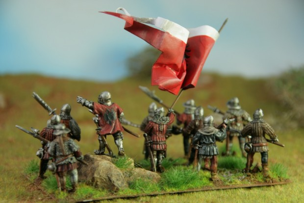 Frankfurt medieval infantry from the back, painted by Tankred