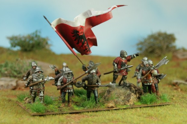 Troops from medieval Frankfurt, 28mm miniatures painted by Tankred