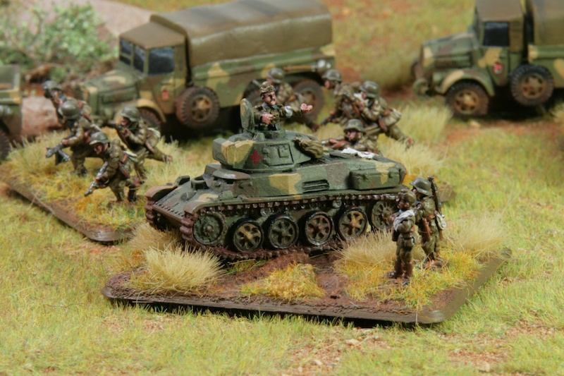 FoW hungarian objective: depicting a medic Toldi tank, which operated 1943 at the river Don