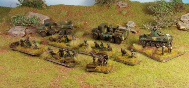 FoW hungarian mortar platoon by Battle Front painted by Tankred