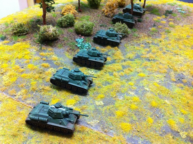 T34 company, miniatures by Battlefront, painted by ElComandante