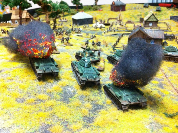 Second assault on the right flank