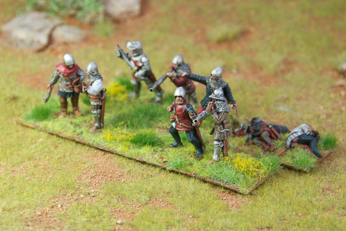 Medieval Handgunners, Perry Miniatures painted by Tankred