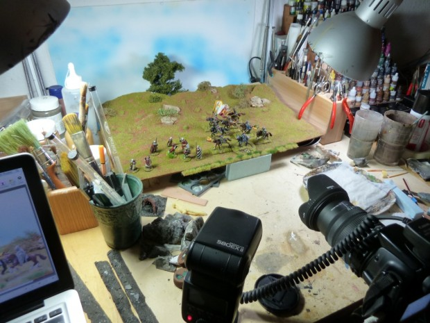 Tankred´s photo setup for miniature pictures