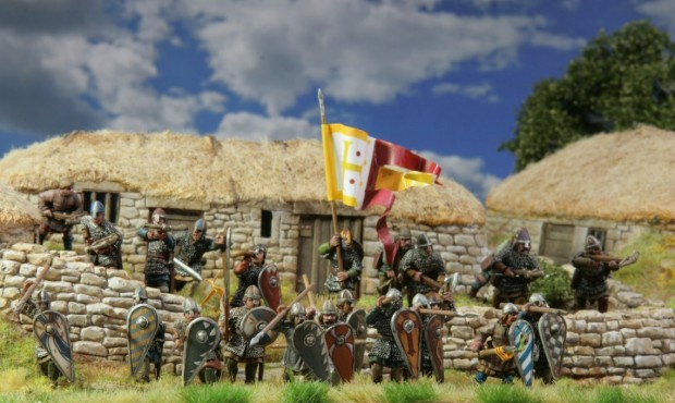 Norman infantry conquering England. Perry Miniatures painted bei Tankred