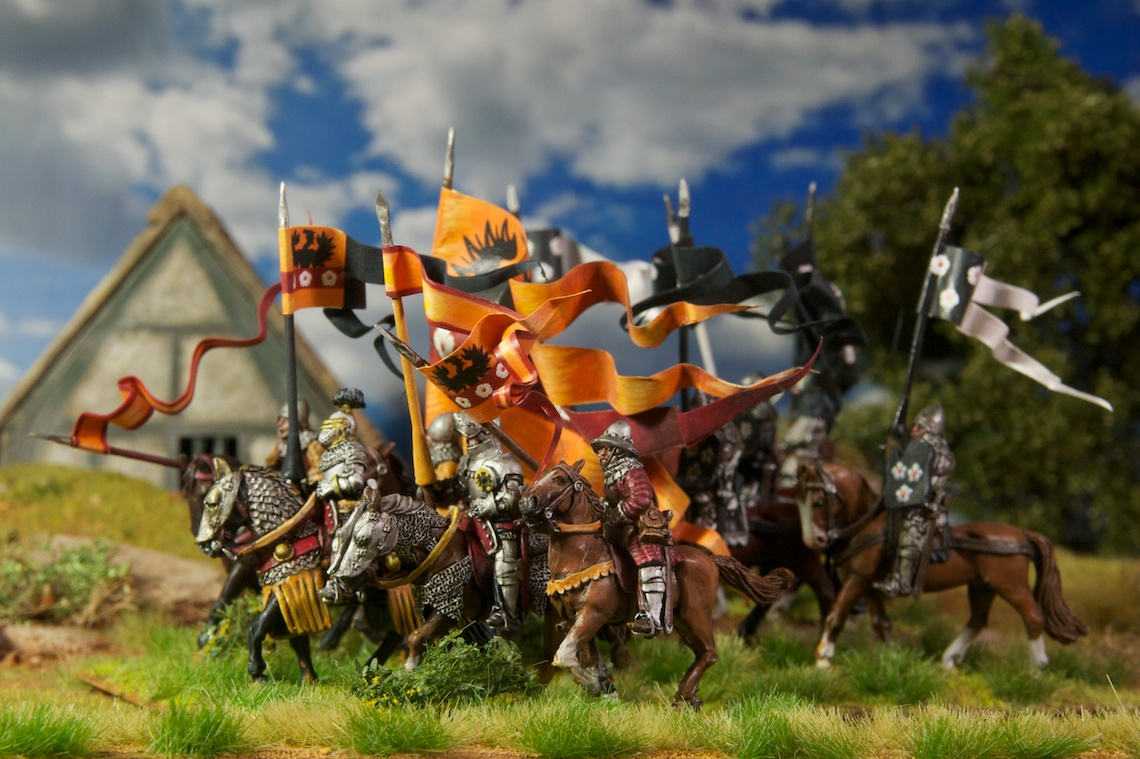 Heavy Patrician Cavalry miniatures by Perry Miniatures painted by Tankred