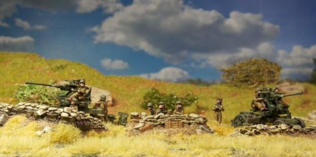 Hungarian Bofor Anti Air Cannon, model by Battlefront, Flames of War, painted by Tankred