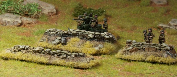 Dug in markers, sand bag emplacements designed by Ekimdj, painted by Tankred