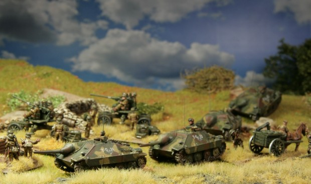 Hungarian Hetzer, models by Battlefront, FoW, painted by Tankred