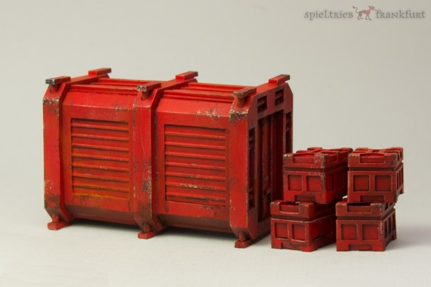 Container and Boxes painted by Tankred