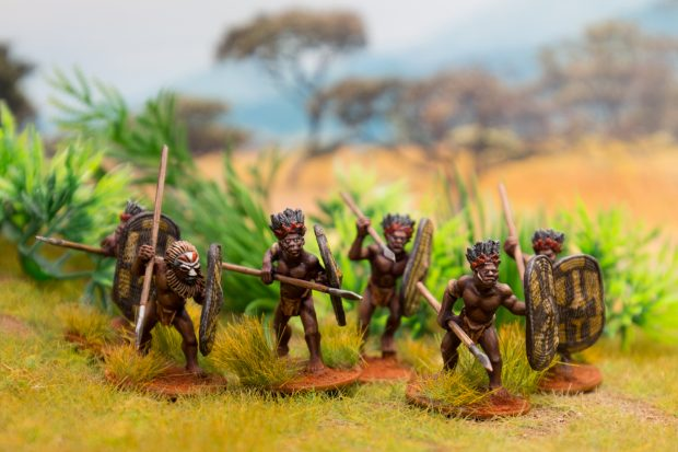 Azande Congo Minatures by Wargames Foundry painted by Tankred
