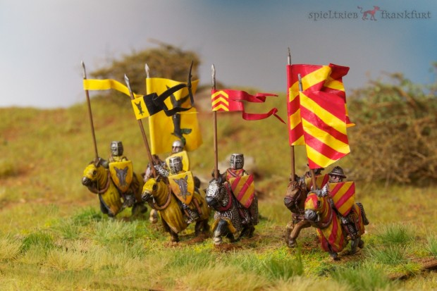 15mm feudal knights 13th century miniatures for Impetus painted by Tankred