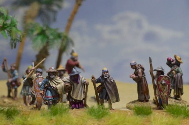 First Crusade Pilgrim miniatures painted by Tankred