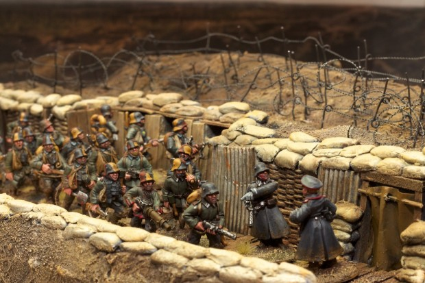 German World War 1 trench during Kaiserschlacht, model by Tankred